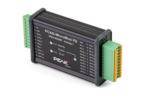 PCAN MicroMod FD Analog 1 I/O with CANopen (FD) Option